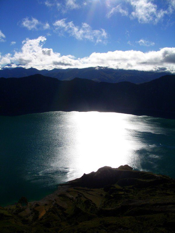 Lake Quilatoa, Ecuador: Elevation 12,800 feet!