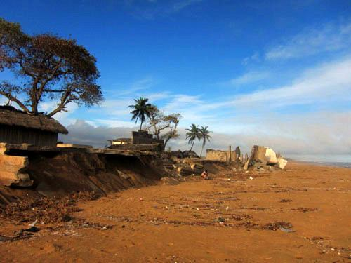 Ruins in Cote d'Ivoire, West Africa