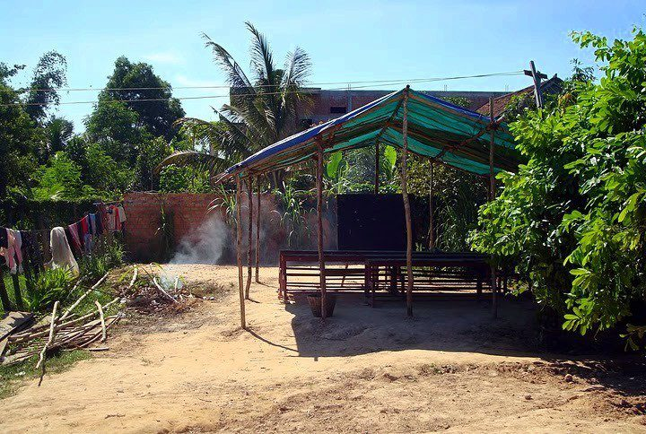 One of the English School classrooms where Abbie taught in Cambodia.
