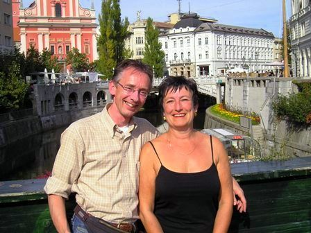 TTW Facilitators Chris and Peter in Ljubljana, Slovenia