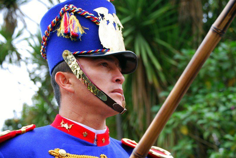 The elaborate changing of the guard ceremony, every Monday in Quito, Ecuador.