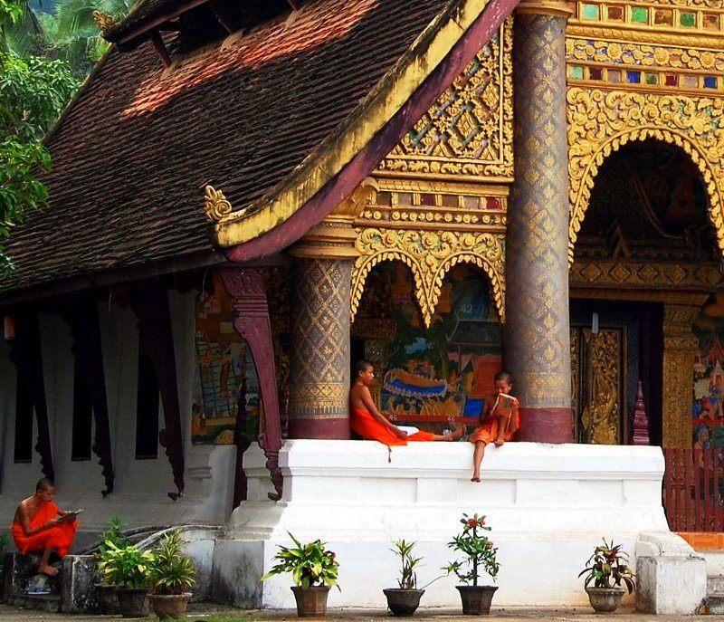 Monks studying in Luang Prabang, Laos. Beautiful!