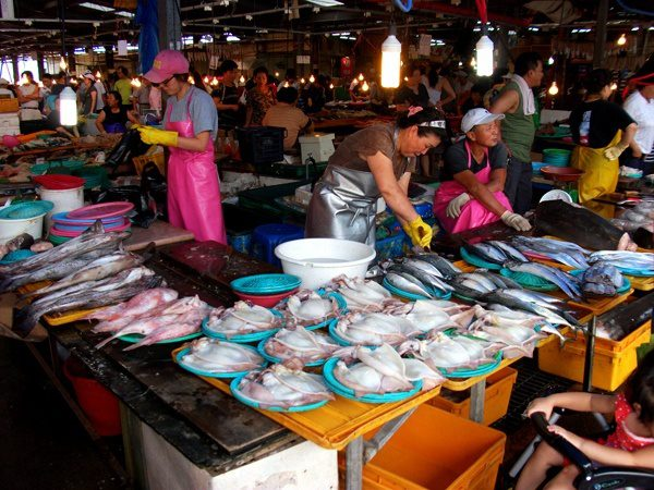 South Korean food markets