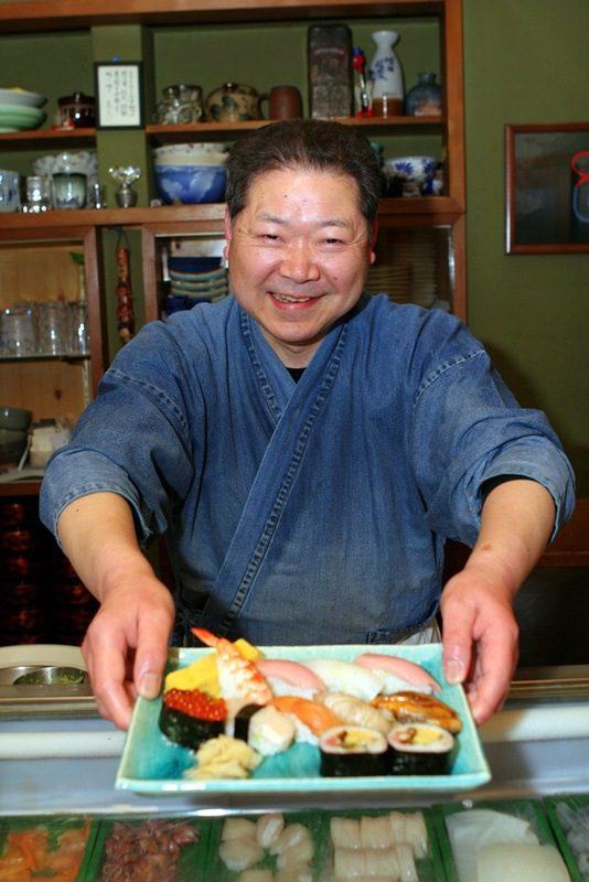 The freshest sushi ever, at Tsukji Fish Market, Tokyo.