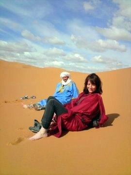 Relaxing in the Sahara desert!