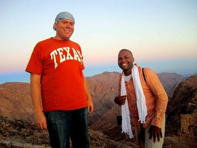 Aaron and his friend Devin at the summit of Mt. Sinai!