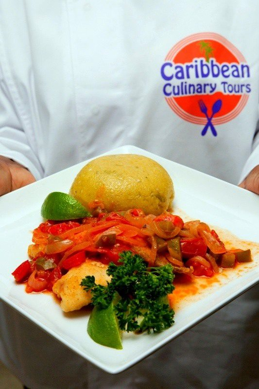 Delicious Caribbean food on the tour. Yum!