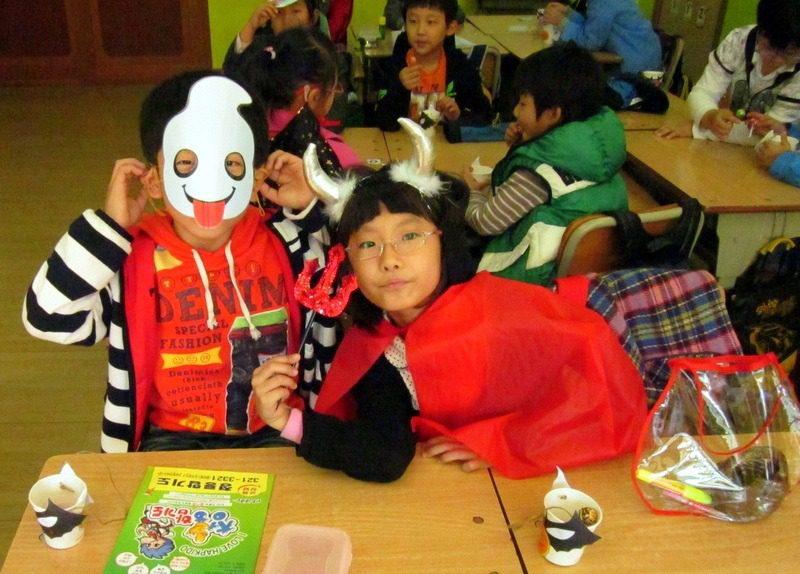 Natalie's South Korean students, dressed up!