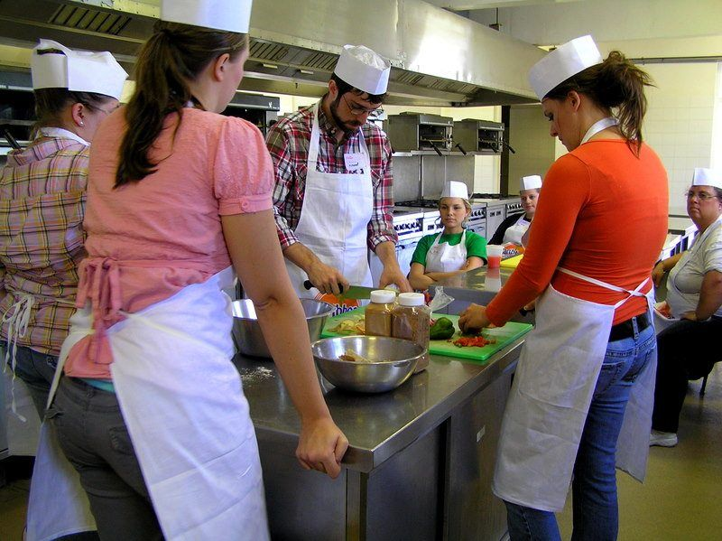 Teaching and learning Caribbean cuisine.