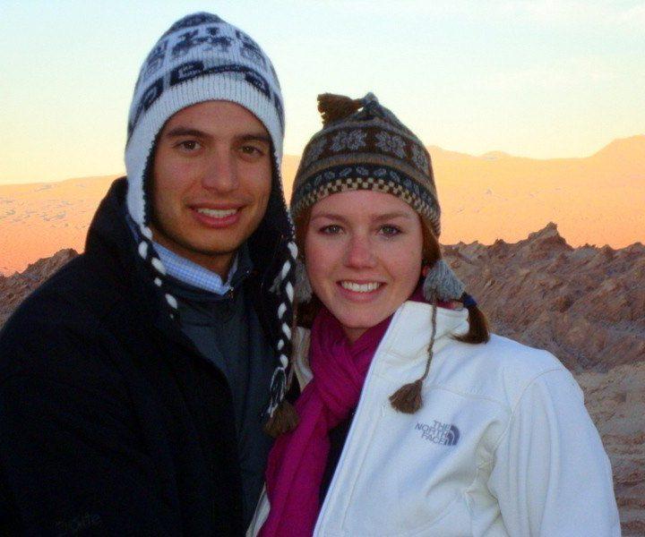 Ashleigh and her boyfriend.