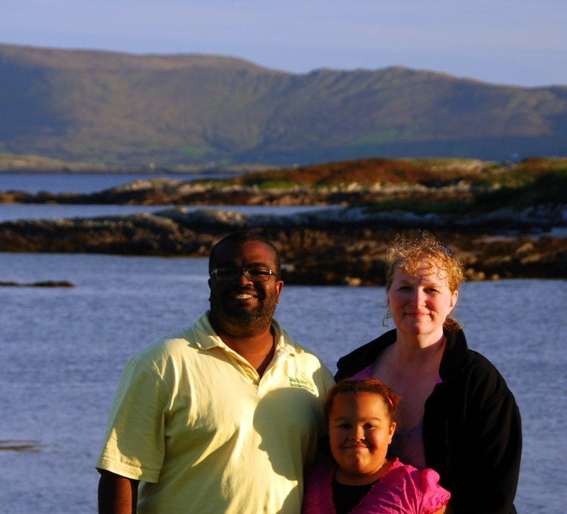 Jessie and her family in Co Kerry, Ireland.