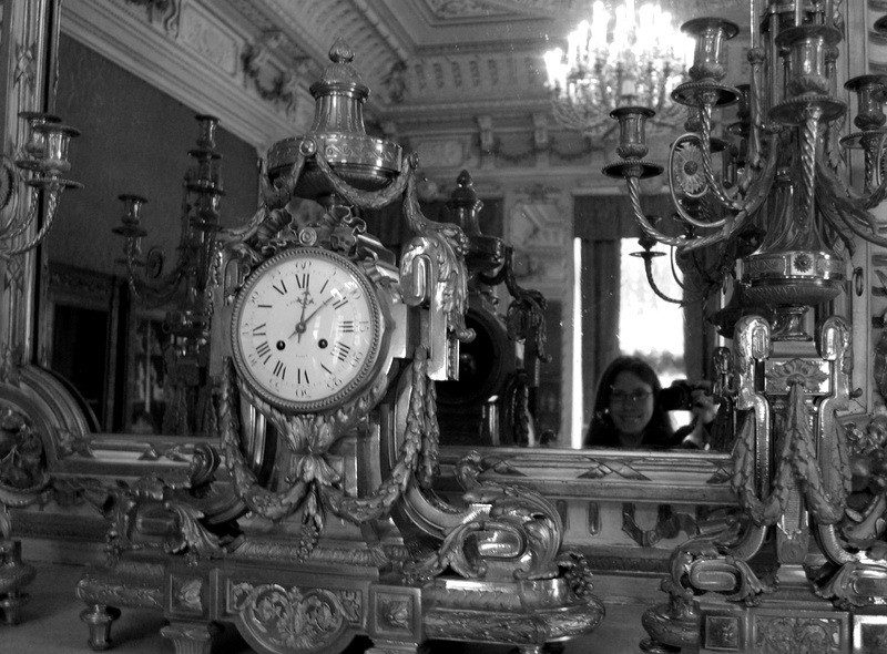 Jenna in a mirror in a St. Petersburg palace.
