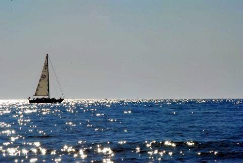Sailing on Lake Michigan.