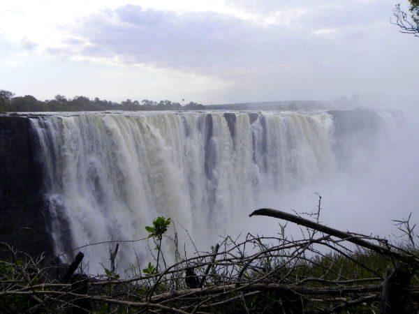 Thundering Victoria Falls, Zimbabwe.