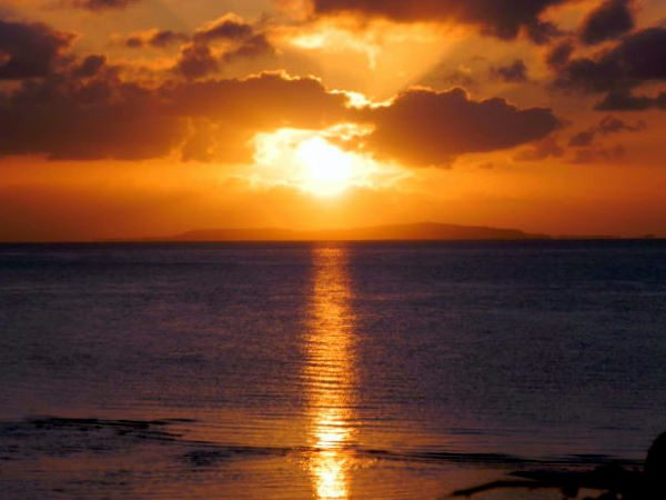 Sunset over the Indian Ocean, Mozambique.