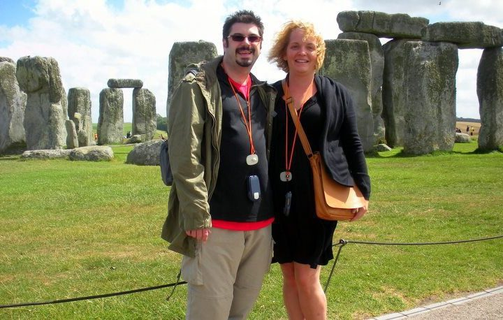 Tracy and her husband at Stonehenge.