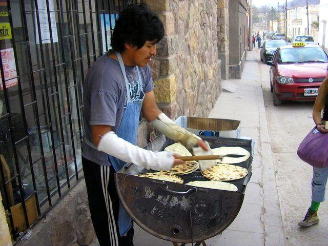 Making fresh tortillas in Tilcara, northwest Argentina.
