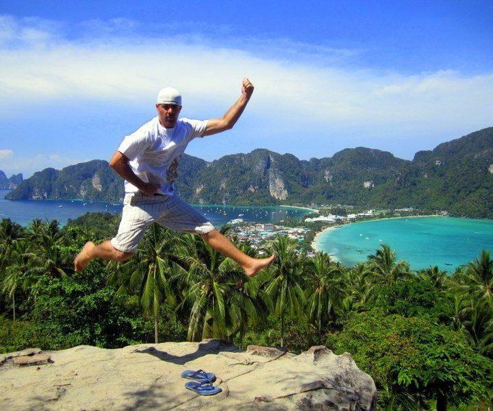 Mike PowerKicking in Ko Phi Phi, Thailand!