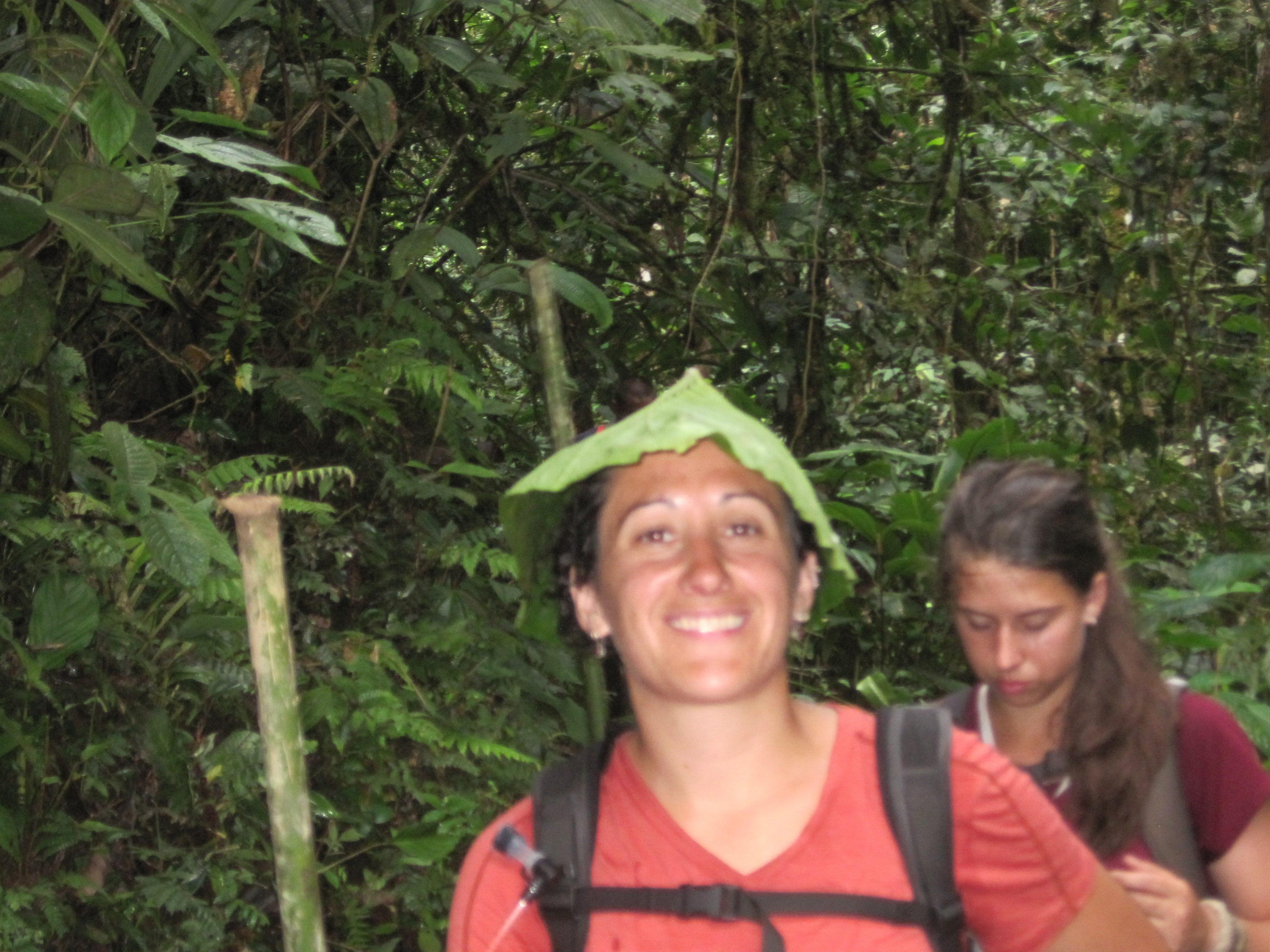 A gorgeous leaf hat, Aurora.