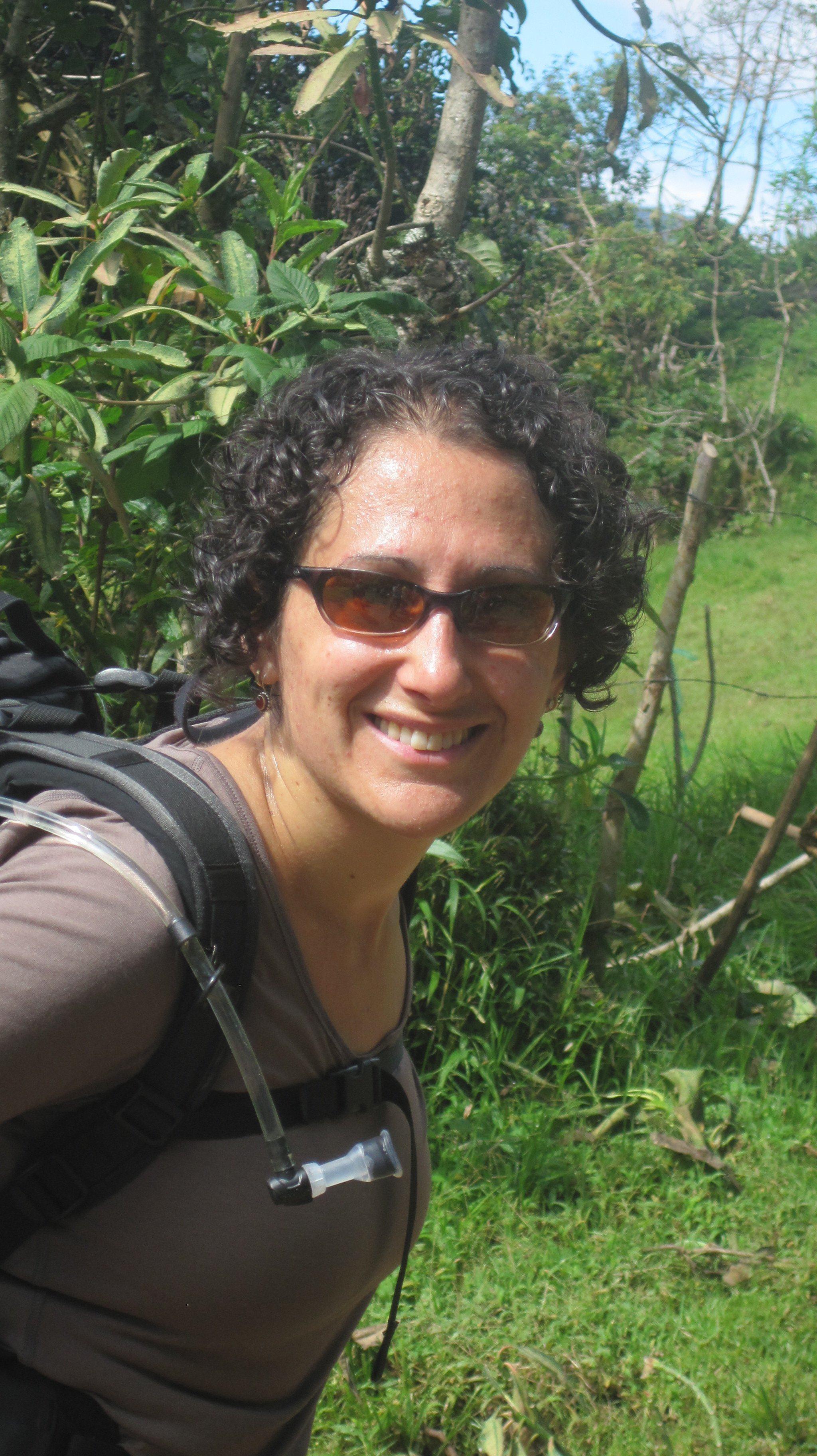 The intrepid Teacher-Traveler, trekking.