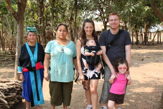 The Hara family visiting a hill tribe in Laos 2011. Great photo!