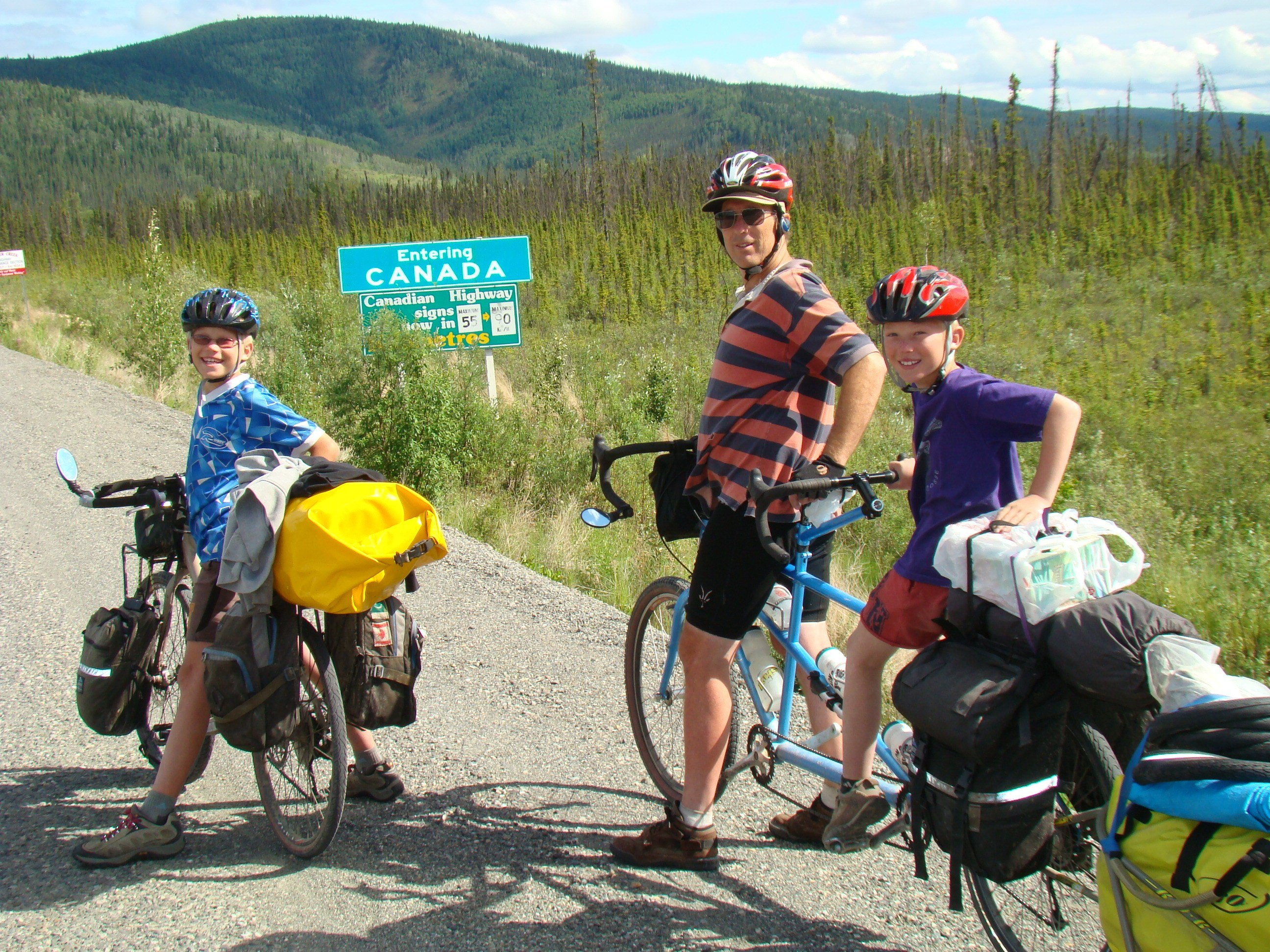 The boys were 10 when the Vogel family set off from Alaska to cycle south to the tip of Argentina.