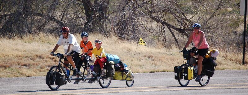 When their boys were in third grade, the Vogel family spent that year cycling around the USA and Mexico.