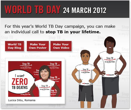World Stop TB Day is March 24, 2012!