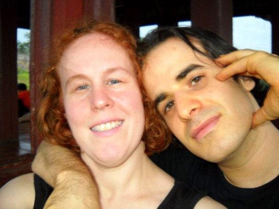 Whitney and her husband, Chris, in Suwon, Korea, 2009.