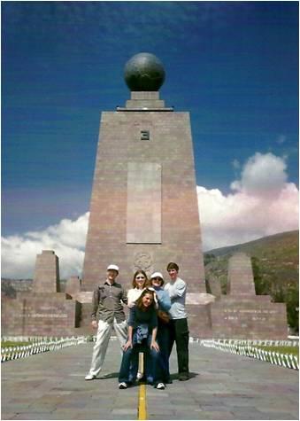 On the Equator line in Ecuador!