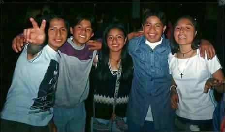 Maureen's students in Quito, Ecuador.