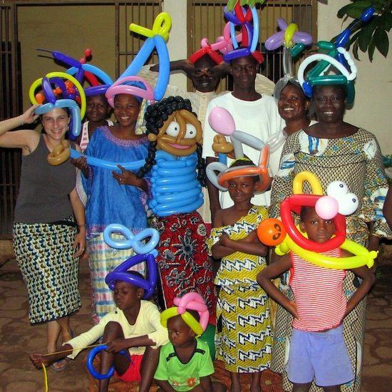 Balloon artist in Mali