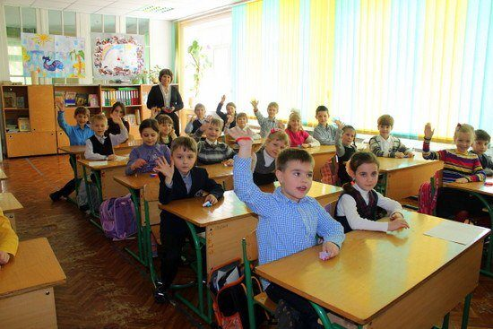 A class in Zaporizhia, Ukraine with Teachers for Global Classrooms.