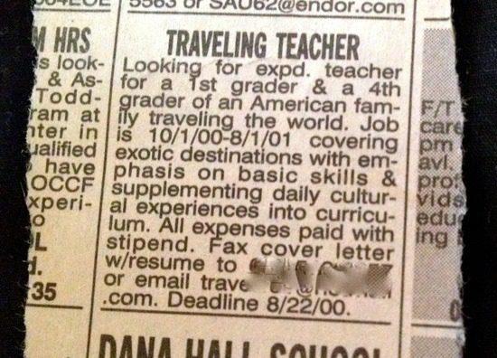 Traveling Teacher