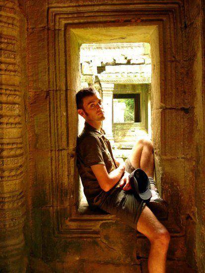 Chris in Angkor Wat, Cambodia.
