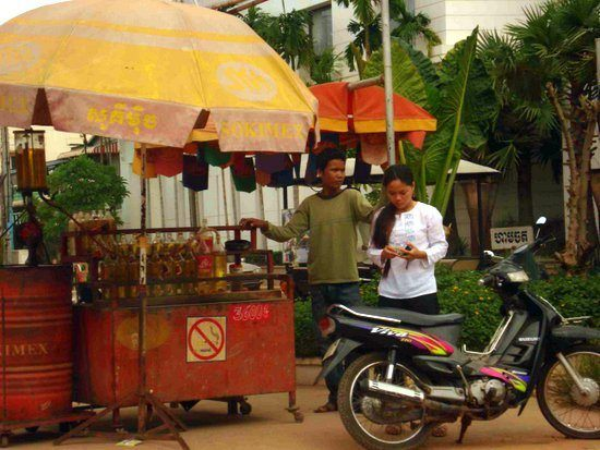A street scene from Chris's Cambodia travels.