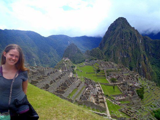 """Chelsea """"Livin' the dream"""" in Machu Picchu, Peru."""