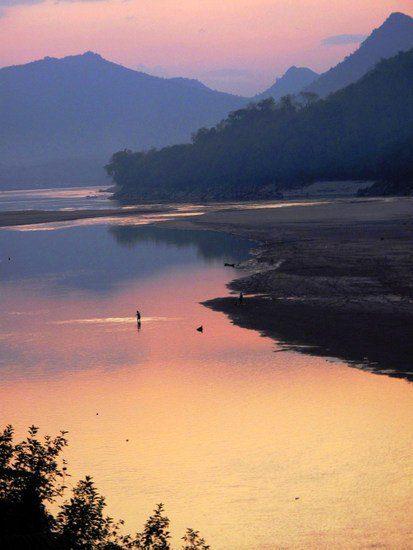 Sunset in beautiful Luang Prabang, Laos.