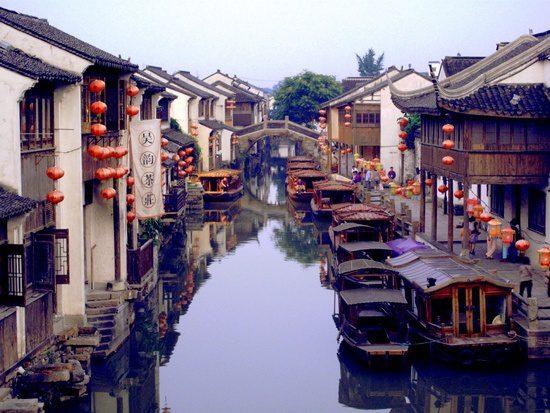 Shantang Canal in Suzhou, China.