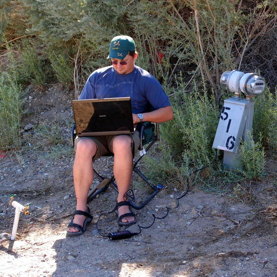 Korbus teaching online in the middle of nowhere!