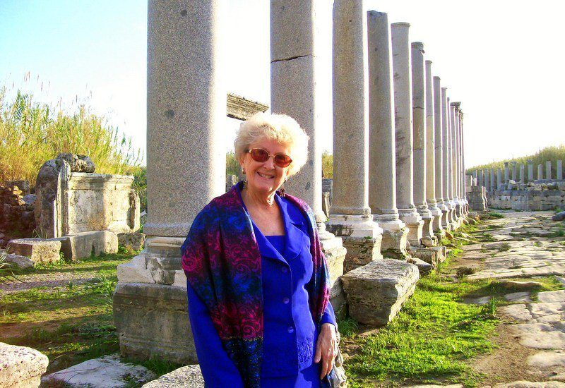 Marilyn in Perge, Turkey. This remarkable woman made her travel dreams come true. Will you?