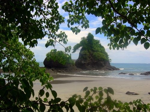 The beautiful Costa Rican shoreline during group student travel.