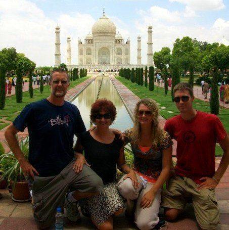 Jill's family at the Taj Majal in India in 2009.