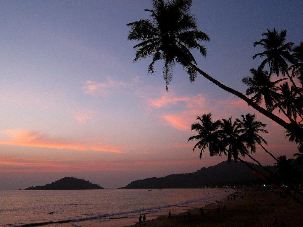 Enjoying the sunset on the beaches of Goa, India. Wow, Rory... WOW!