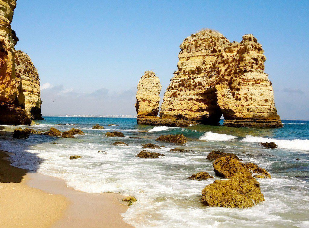 The beaches of Lagos Portugal, snapped during Rory's RTW adventure.