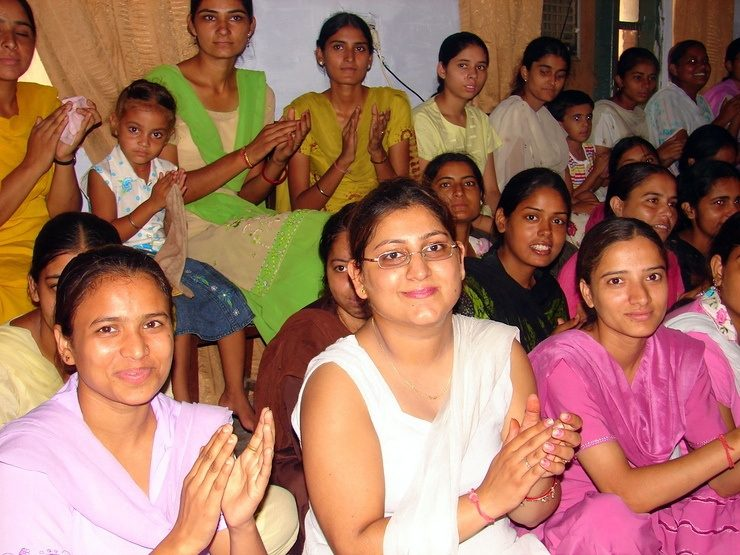 Teachers and students at the school in Amritsar, India during Gail's travels.