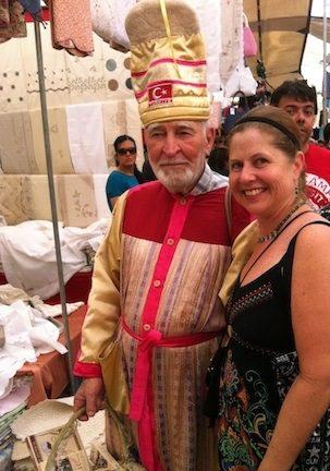 "With a ""Sultan"" at Saturday Market, Alacati, Turkey."