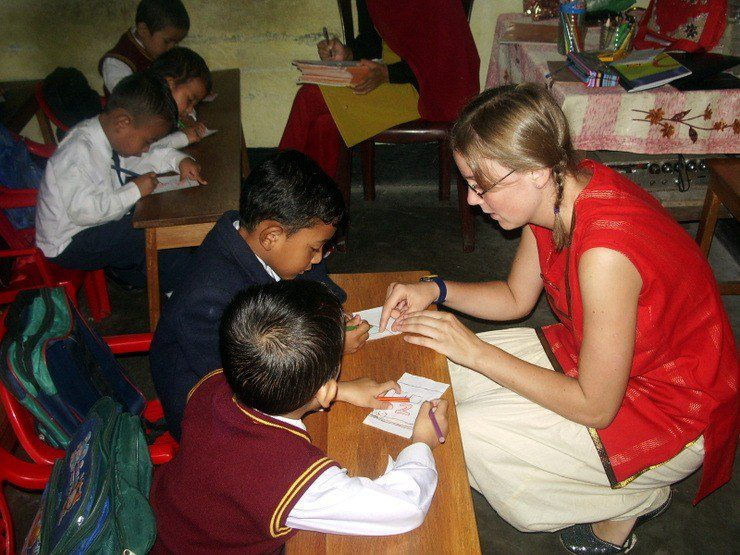 What cute kids Abigail taught in India!