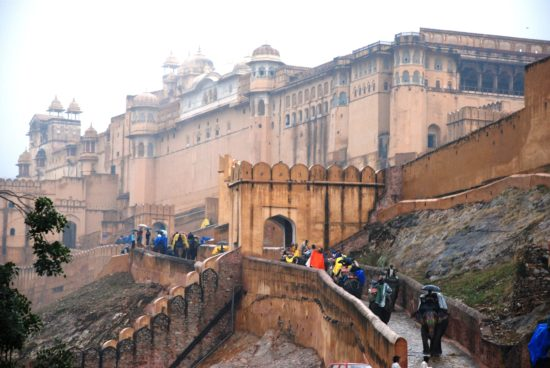 Famous Amer Fort in Jaipur, India.