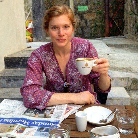 Emily, happy in Hong Kong.